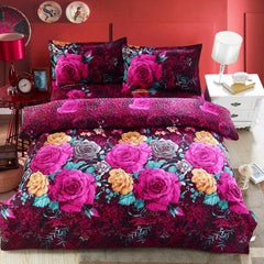 Home textile Reactive Print 3D bedding sets luxury Full/Queen/King Size Bed Quilt/Doona/Duvet Cover Pillowcases Set New-Dollar Bargains Online Shopping Australia