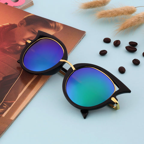 Hot Retro Metal Frame Sexy Cat Eye Sunglasses for Women Coating Brand vintage sun glasses female oculos de grau femininos - Dollar Bargains - 1