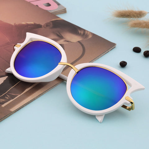 Hot Retro Metal Frame Sexy Cat Eye Sunglasses for Women Coating Brand vintage sun glasses female oculos de grau femininos - Dollar Bargains - 2