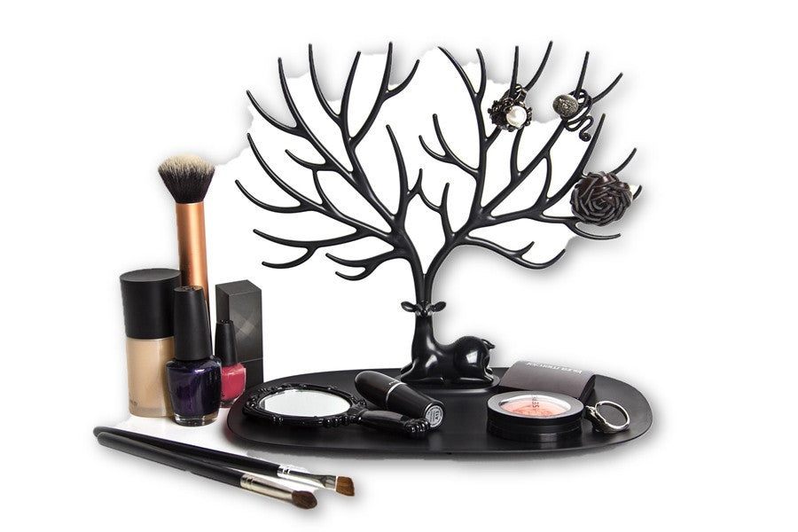 BlackJewelry Display Tray My Little Deer Accessories Tray Bracelet Storage Tree Shelf