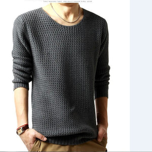 Relaxed-fit sweater pullover male winter knitting brand long sleeve with v-neck fitted sweater jersey size M-XXL - Dollar Bargains - 1
