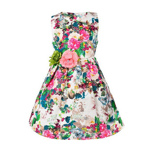 Kids clothing summer dresses for girls summer style girl dress floral print cotton birthday party sundress baby children clothes - Dollar Bargains - 2