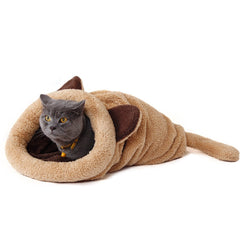 Cute Cat Sleeping Bag Warm Dog Cat Bed Pet Dog House Lovely Soft Pet Cat Mat Cushion High Quality Products Lovely Design-Dollar Bargains Online Shopping Australia