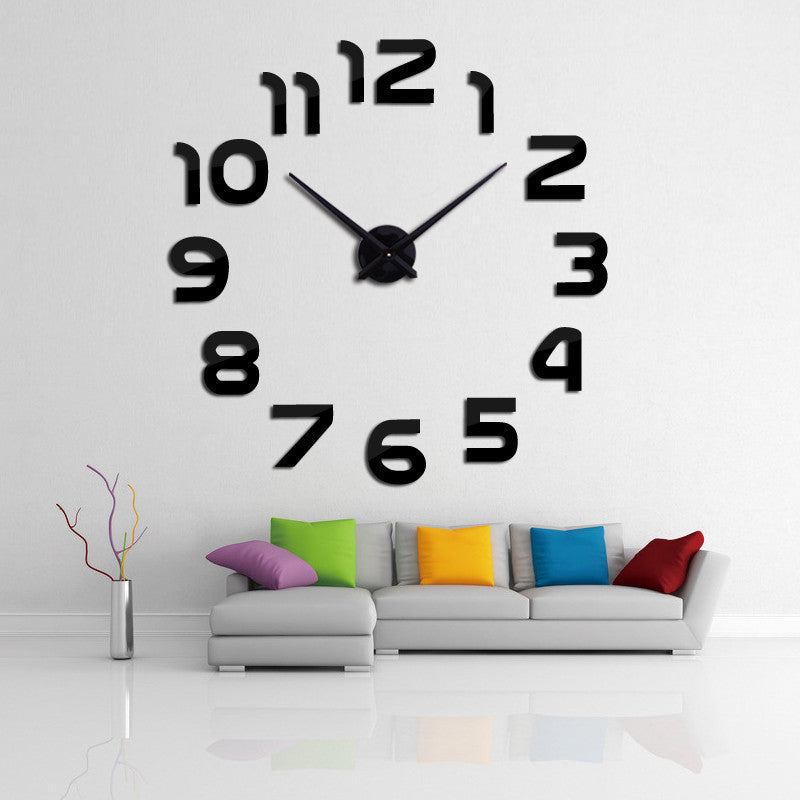 Whitenew clock watch wall clocks horloge 3d diy acrylic mirror Stickers Home Decoration Living Room Quartz Needle