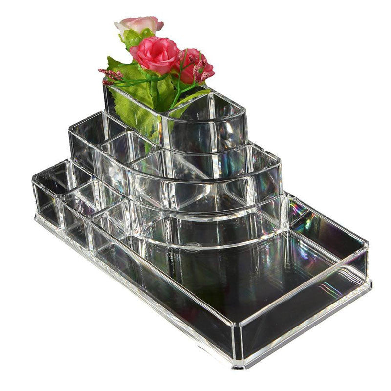 Acrylic Cosmetic Organizer Lipstick Holder Display Stand Clear