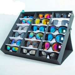 Sunglasses Box Black Wood 18Grids Eyeglass Box Eyewear Organizer Display Case Box Collector Sunglasses Storage Box Holder-Dollar Bargains Online Shopping Australia
