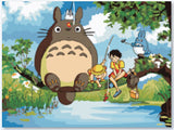 Handmade Picture DIY Digital Oil Paintings On Canvas Home Decoration My Neighbor Totoro Painting By Numbers-Dollar Bargains Online Shopping Australia