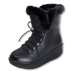 Snow Boots platform women winter shoes waterproof ankle boots lace up fur boots white black-Dollar Bargains Online Shopping Australia
