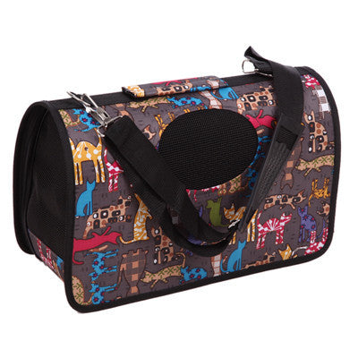 Black / SFashion Pet Dog Cat Puppy Portable Travel Carrier Tote Bag Handbag Crates Kennel Luggage FULI