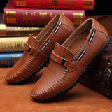 2016 New Design Real Leather Men Flats Genuine Leather Men Boat Shoes,Fashion Men Moccasins Shoes Chaussure Homme Soft Men Shoes - Dollar Bargains - 1