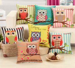 RUBI Lovely Owls Cushion Without Inner Polyester Home Decor Sofa Car Seat Decorative Throw Pillow Housse-Dollar Bargains Online Shopping Australia