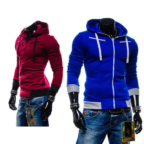 Best price and good quality!Men's casual hooded Casual Hoodie coat man cardigan slim Sweatshirts Jackets M-4XL(asian size) - Dollar Bargains - 1