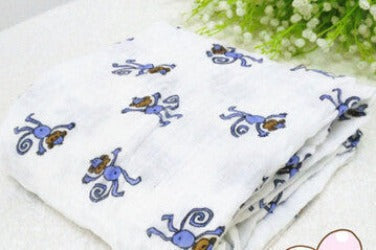 120x120cm Muslin Baby Swaddling Blanket Newborn Infant 100% Cotton Swaddle Towel Random Delivery-Dollar Bargains Online Shopping Australia