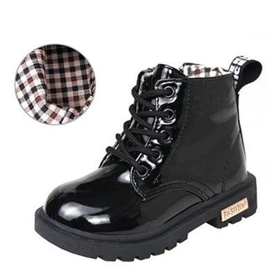 Children's shoes autumn/winter children Korean version of Martin boots leather waterproof boots for men and women boots-Dollar Bargains Online Shopping Australia