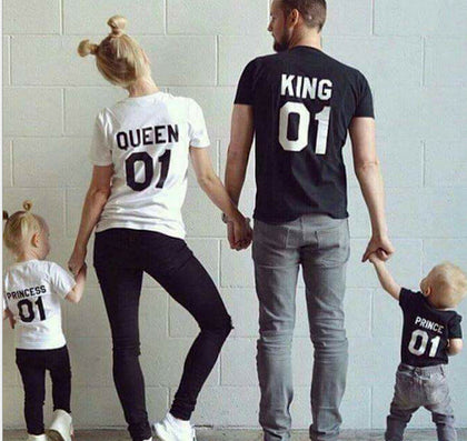 summer Family Matching Outfits Short-sleeved Cotton matching family clothes T-shirt Family Look Family matching clothes-Dollar Bargains Online Shopping Australia
