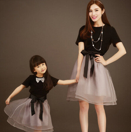 d6ea2708753ff matching mother daughter dresses summer T shirt +skirt mom and daughter  dress famliy look mother daughter matching clothes