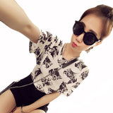 fashion Women's Summer T-Shirt Clothes Shirt O-neck funny cat printing-Dollar Bargains Online Shopping Australia