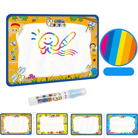 50x34cm Baby Kids Add Water with Magic Pen Doodle Painting Picture Water Drawing Play Mat in Drawing Toys Board Gift Christmas - Dollar Bargains