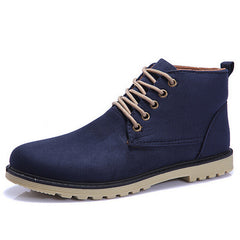 Brand Fashion Men Winter Shoes Lace-up Ankle Boots,Warm Cotton Inside Men Footwear Street Motorcycle Boots XMX258-Dollar Bargains Online Shopping Australia