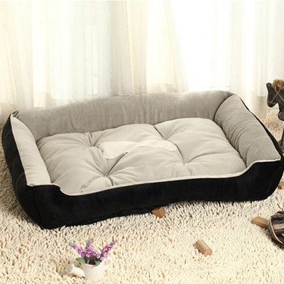Black / L 58X44X14cm6 Sizes House New Pets Beds Plus Size Dogs Fashion Soft Dog House High Quality PP Cotton Pet Beds For Large Pets Cats HP350