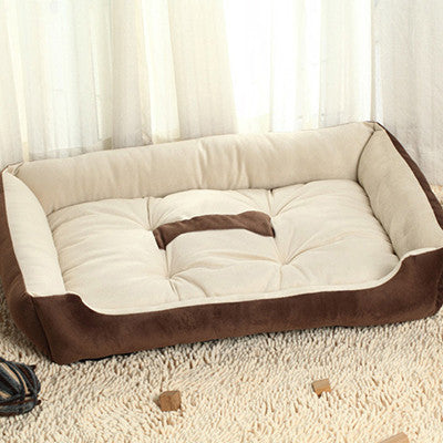 Coffee / L 58X44X14cm6 Sizes House New Pets Beds Plus Size Dogs Fashion Soft Dog House High Quality PP Cotton Pet Beds For Large Pets Cats HP350