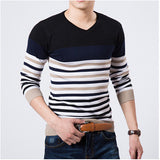 2016 High Quality Casual Sweater Men Pullovers Brand winter Knitting long sleeve v-Neck slim Knitwear Sweaters size M-XXL - Dollar Bargains - 3