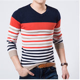 2016 High Quality Casual Sweater Men Pullovers Brand winter Knitting long sleeve v-Neck slim Knitwear Sweaters size M-XXL - Dollar Bargains - 4