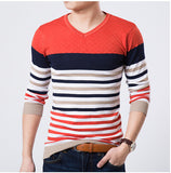 2016 High Quality Casual Sweater Men Pullovers Brand winter Knitting long sleeve v-Neck slim Knitwear Sweaters size M-XXL - Dollar Bargains - 2
