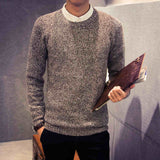 men sweater autumn winter solid color casual Knitting round neck pullovers pull homme J1538-Dollar Bargains Online Shopping Australia