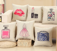 Fashion red lips cushion without inner lipstick perfume bottle home sofa decorative pillow car seat capa de almofada cojines-Dollar Bargains Online Shopping Australia