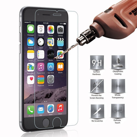 Tempered Glass Screen Film For Apple iphone 4 4s 5 5s 5c SE 6s 6 7 Plus 7Plus Film Clear Protect Slim Shockproof Explosion-proof-Dollar Bargains Online Shopping Australia