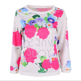 Fashion Autumn Women Girl Long Sleeve Floral Print T Shirts Crew Neck Casual Tops-Dollar Bargains Online Shopping Australia