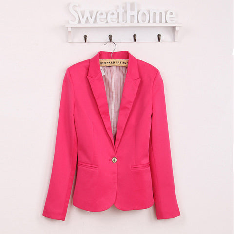 Lowest Fall Promotion  blazer women suit blazer foldable brand jacket  spandex with lining Vogue refresh blazers Free shipping - Dollar Bargains - 2