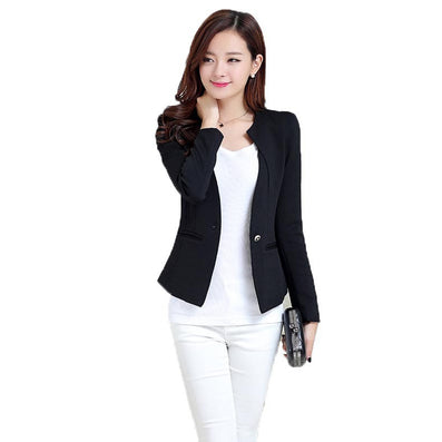 Women Pink Spring Blazers Fashion Plus Size Causal Slim Full Sleeve One Button Feminina Casacos Work Wear WT101-Dollar Bargains Online Shopping Australia
