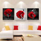 Print poster canvas Wall Art Beautiful roses cuadros Decoration art oil painting Modular pictures on the hall wall(no frame)3pcs-Dollar Bargains Online Shopping Australia