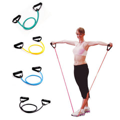 Pull Rope Elastic Rope Crossfit Set Multifunctional Training Equipment Rubber Band Belt Gym Equipment-Dollar Bargains Online Shopping Australia