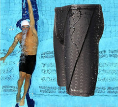 Sharkskin water repellent men's long racing swimming swim trunks Sport shorts classic men swimwear-Dollar Bargains Online Shopping Australia