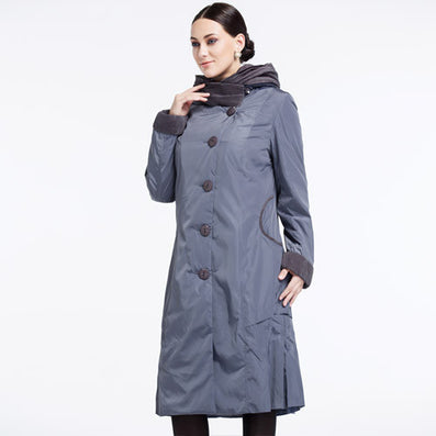 Women's Coat High Quality Spring and Summer Trench Slim Hooded Lapel Button Big Size AY-9076-Dollar Bargains Online Shopping Australia