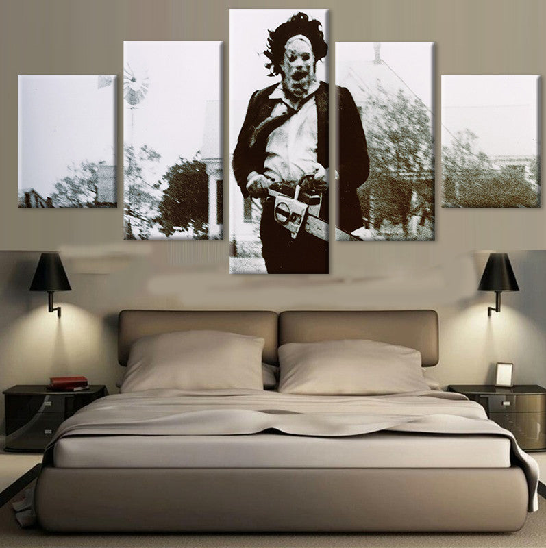Unframed 5 Panel The Texas Chainsaw Massacre Modern Printed Paintings On Canvas Wall Art For Home. Sale & Unframed 5 Panel The Texas Chainsaw Massacre Modern Printed ...