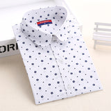 Autumn Floral Women Shirts with Long Sleeves Cotton Blouses Shirt Turn Down Collar Female Bodycon Shirts Women Feminine Shirt - Dollar Bargains - 14