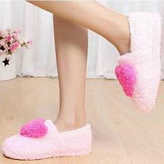 Ladies Home Floor Soft Women indoor Slippers Outsole Cotton-Padded Shoes Female Cashmere Warm Casual Shoes-Dollar Bargains Online Shopping Australia