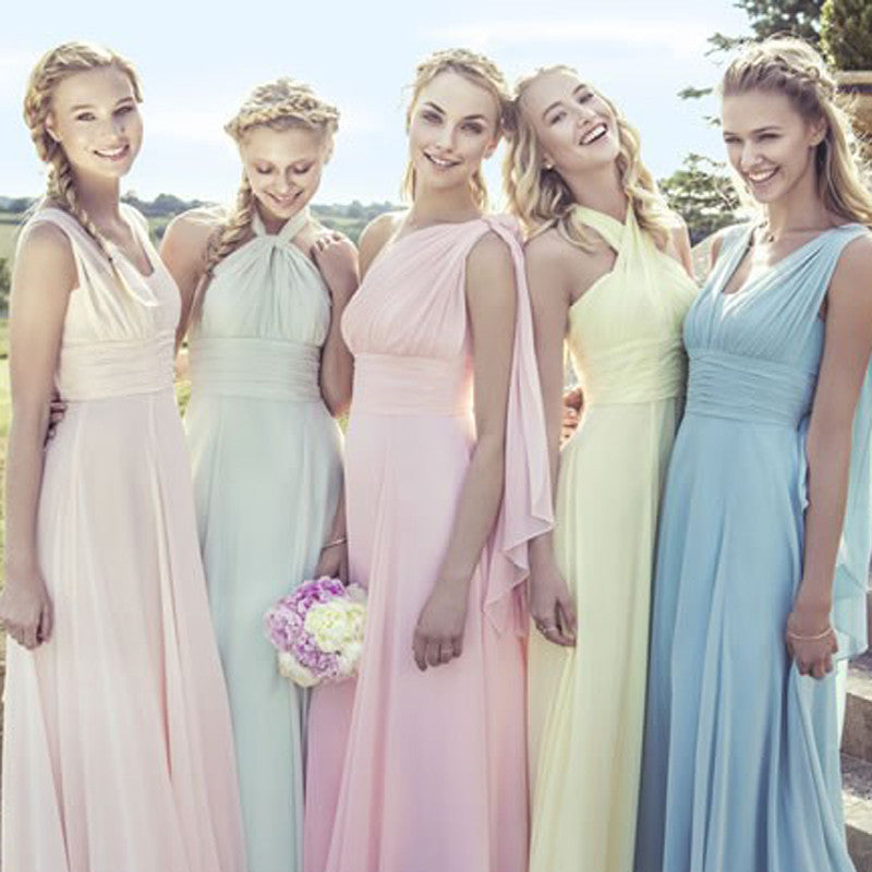 4eef9a9fc78 Convertible Style Sexy Chiffon Party Wedding Bridesmaid Dresses Floor  Length Mint Dresses for Bridesmaids Vestido BMD94