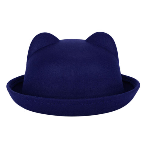 Fashion Winter Fashion Women Devil Hat Cute Kitty Cat Ears Wool Derby Bowler Cap Free Shipping - Dollar Bargains - 3