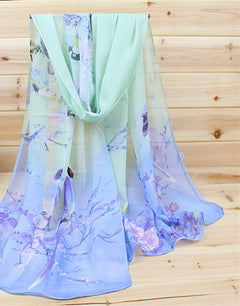 New Fashion Soft Thin Chiffon Silk Scarf Women Animal Bird printed Scarves-Dollar Bargains Online Shopping Australia