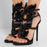 Black Pink Metallic Winged Gladiator Women Sandals High Heels Brand Sandals Summer Shoes Woman Sandalias Ladies Shoes Pumps-Dollar Bargains Online Shopping Australia