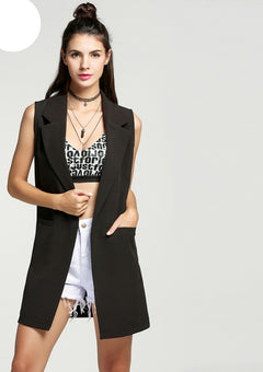 Classical Autumn Women waistcoat Sleeveless Vest Jacket Long Solid Cardigan All-match Coat Outwear For Famale FreeStyle-Dollar Bargains Online Shopping Australia