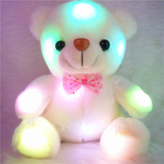 J121 Kids FavoritesNew Arrival 20cm Lovely Soft LED Colorful Glowing Teddy Bear Stuffed Plush Toy Gifts For Birthday-Dollar Bargains Online Shopping Australia
