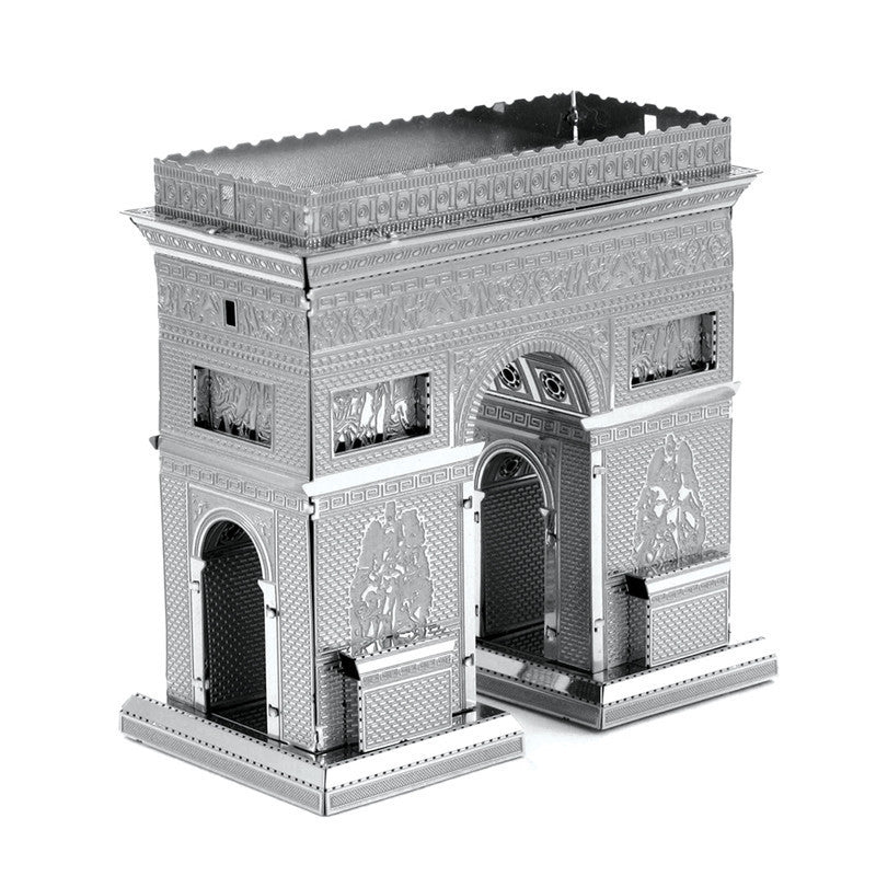 Arc de TriompheMiniature 3D Metal Model Puzzle Building Kits Laser Cutting Solid Jigsaw Scale Model Ship Fighter Aircraft Car Tank Helicopter