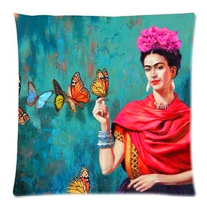 Cushion Cover Frida Kahlo Pillow Case Firm Flower self-portrait Sofa Butterfly Bedroom Home Decorative Throw Pillow Cover-Dollar Bargains Online Shopping Australia