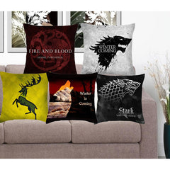 Cushion Cover Game Of Thrones Polyester Pillowcase Sofa Home Decorative Throw Pillow Funda Cojin Housse de coussin-Dollar Bargains Online Shopping Australia